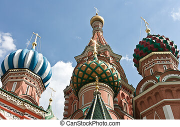 Saint Basil's Cathedral in Moscow, Russia, Europe