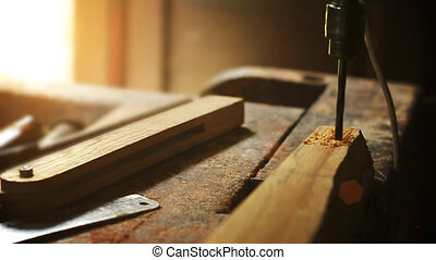 Work in the carpentry shop.