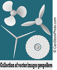 Collection of vector illustrations propellers vector