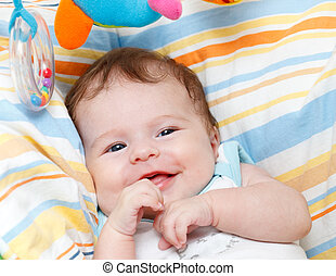 Portrait of smiling baby girl
