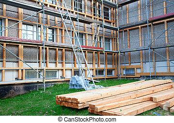 predios, madeira, construção