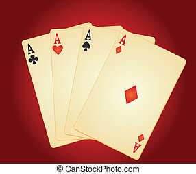 four aces vector illustration