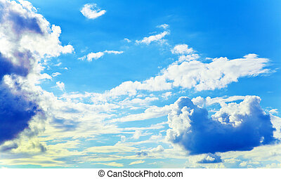clouds on sky - blue sky and beautiful white clouds