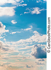 clouds on sky - blue sky and beautiful clouds