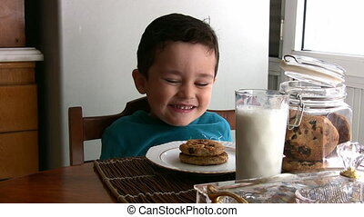 Hungry Little Boy   Full HD 1080p - Little Boy eating cake