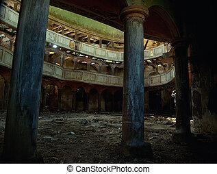 Old theatre - Photo of an old destroyed theatre