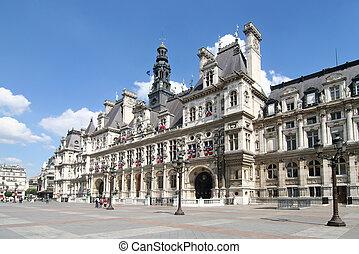 Paris: Hotel de Ville - Hotel de Ville. City Hall of Paris