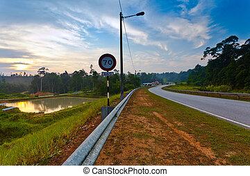 Malaysia rural road