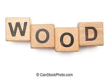 木制, 塊