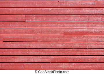 Wall of red plank - The red wood texture with natural...
