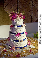 Beach Theme Wedding Cake