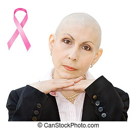 Breast cancer awareness - Breast cancer survivor undergoing...