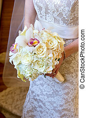 Beautiful Bride's Bouquet - image of a wedding bouquet being...