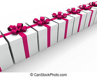 3d pink gift box