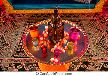 Indian Wedding Decor - Image detail of a table setting at an...