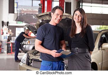 mechanik, klient