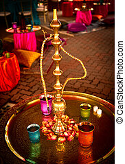 Hookah at Indian Wedding - Image of a Hookah at a...