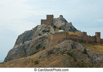 Genoese Sudak Castle. Cimea, Ukraine