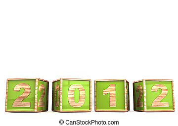 Happy new year 2012 isolated on white background