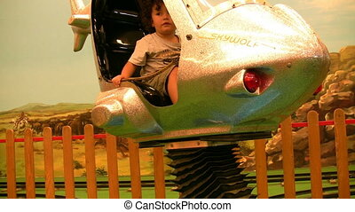 Helicopter Full HD 1080p - Little Boy in the funfair