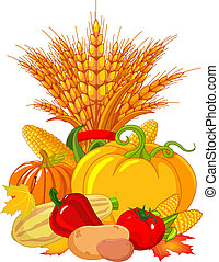 Thanksgiving / harvest design - Seasonal design with plump...