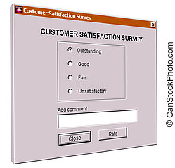 Customer satisfaction survey interface
