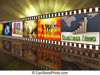 Movie reel - Illustration of entertainment movie film strip...