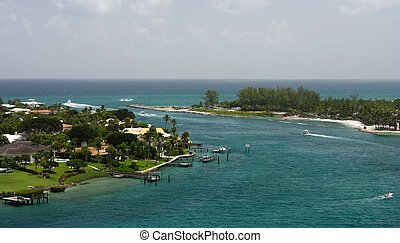 Jupiter Inlet, viewed from the Jupiter Inlet Lighthouse