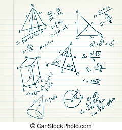 Back to School - Sketch of Geometry on the Copybooc Sheet....
