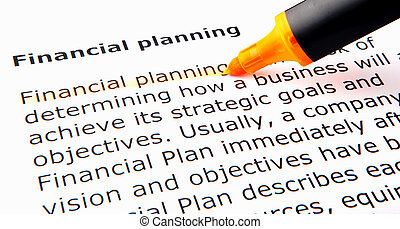 Financial Planning - Image of Financial Planning
