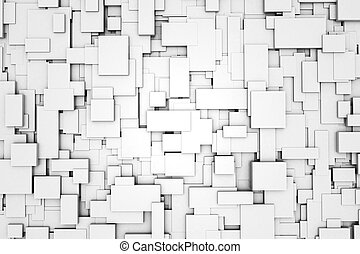 Abstract pattern - Three-dimensional design from white...