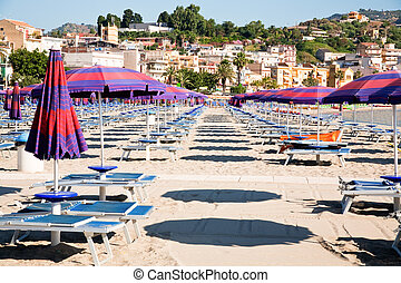 urban sand beach on Sicily - urban sand beach in resort...