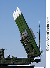 Several Russian combat missiles aimed at the sky. Ready to...