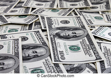 money background (one hundred dollars banknotes)
