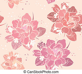 seamless floral background - a beautiful color picture...