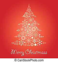 Christmass tree - Christmass card with tree made of...