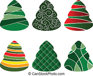 Christmass tree collection - Set of beautiful designed...