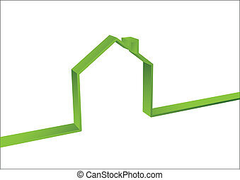 Green House isolated - Green House