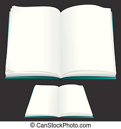 Blank Book - Blank Paper Book for your text or design