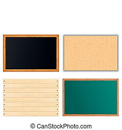 Blank Message Boards Include Chalkboard, Corkboard,...