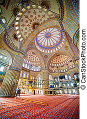 Blue Mosque Interior - Blue Mosque ( Turkish: Sultan Ahmet...