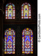 Blue Mosque Stained Glass Windows - Stained glass windows in...