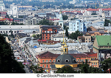 view of the old district of Kiev Podol