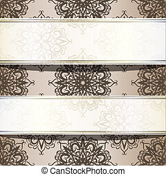 vector seamless vintage wallpaper with place for your text