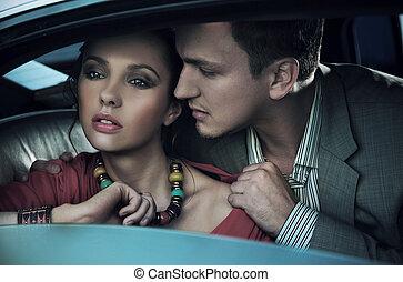 Emotive portrait of a gorgeous young couple