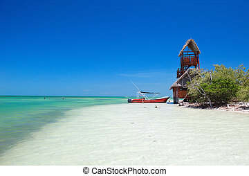Holbox island in Mexico - Scenic view of Holbox island and...