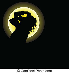 girl silhouette illustration