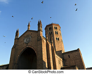piacenza italy - a church of piacenza in italy