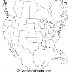 Blank United States Map (Lower 48) - Blank United States map...