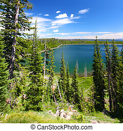 Duck Lake - Yellowstone NP - Beautiful blue waters Duck Lake...